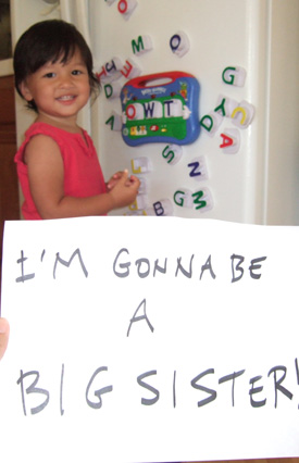 She's going to be a big sister!