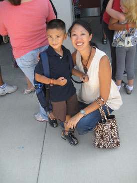 Ethan-first-day-school-w-me